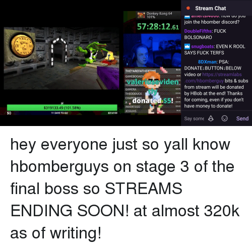 Stream Chat Donkey Kong 64 Ti 101% Loin the Hbomber Discord