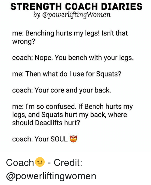 Strength Coach Diaries By A Powerlifting Women Me Benching Hurts My
