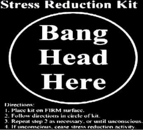 Stress Reduction Kit Bang Head HHere Directions 1 Place