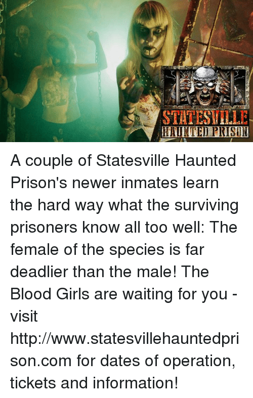 STU TEST ELLE HAUNTEl PRISON a Couple of Statesville Haunted