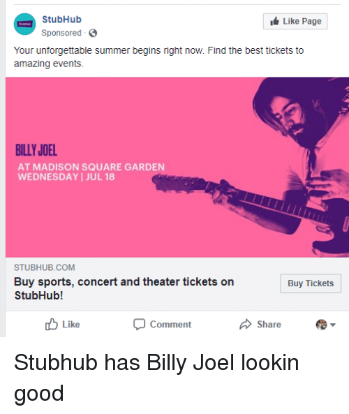 Funny, Sports, And Summer: StubHub Sponsored Like Page Your Unforgettable  Summer Begins Right Amazing Design