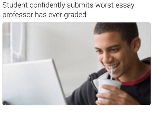 student confidently submits worst essay professor has ever graded irl student and professor student confidently submits worst essay professor has ever graded