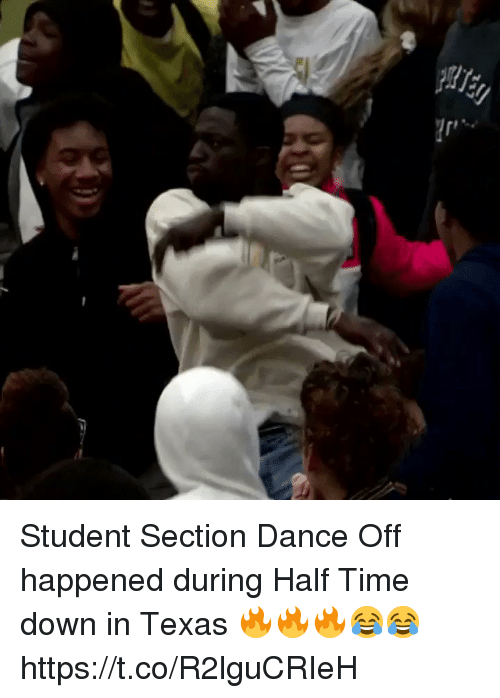 Sizzle: Student Section Dance Off happened during Half Time down in Texas 🔥🔥🔥😂😂 https://t.co/R2lguCRIeH