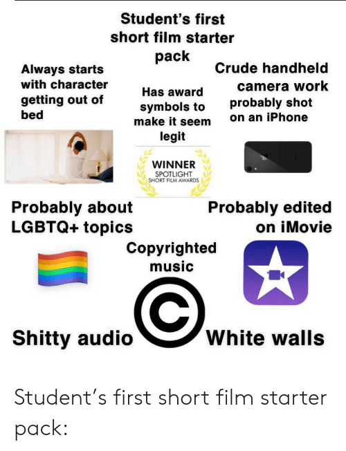 Student's First Short Film Starter Pack Crude Handheld