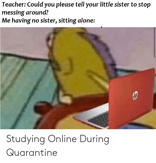 Studying Online During Quarantine Funny Meme On Me Me