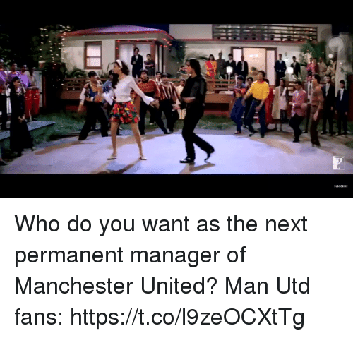 Memes, Manchester United, and United: SUBSCRIBE Who do you want as the next permanent manager of Manchester United?  Man Utd fans:  https://t.co/l9zeOCXtTg