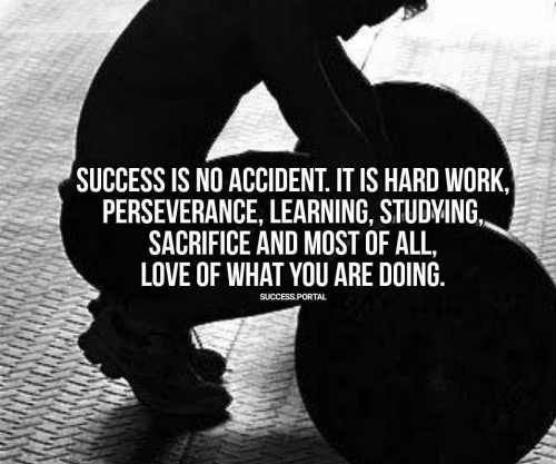 Love, Work, and Perseverance: SUCCESS IS NO ACCIDENT. IT IS HARD WORK,  PERSEVERANCE, LEARNING, STUDVING  SACRIFICE AND MOST OFALL,  LOVE OF WHAT YOU ARE DOING  SUCCESS.PORTAL