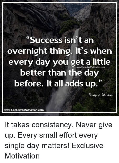 Isnt It Little Early To Give Up On >> Success Isn T An Overnight Thing It S When Every Day You Get A