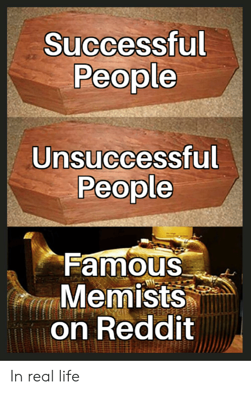 Successful People Unsuccessful People Famous Memists on Reddit in