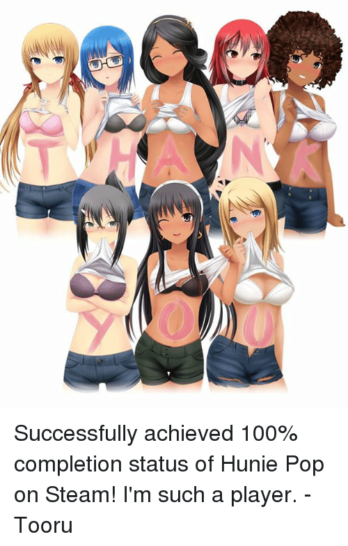 Dank Pop And Steam Successfully Achieved 100 Completion Status Of Hunie Pop