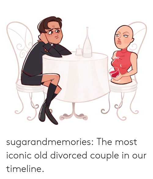 Tumblr, Blog, and Http: sugarandmemories:    The most iconic old divorced couple in our timeline.