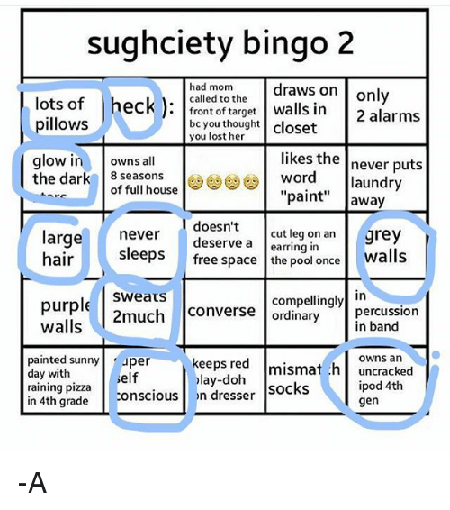 Sughciety Bingo 2 Had Mom Draws On Only Called To The Lots Of Heck