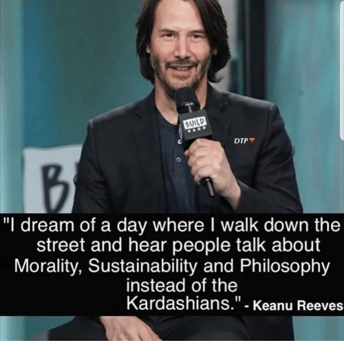 in dreams your reeves Keanu meme