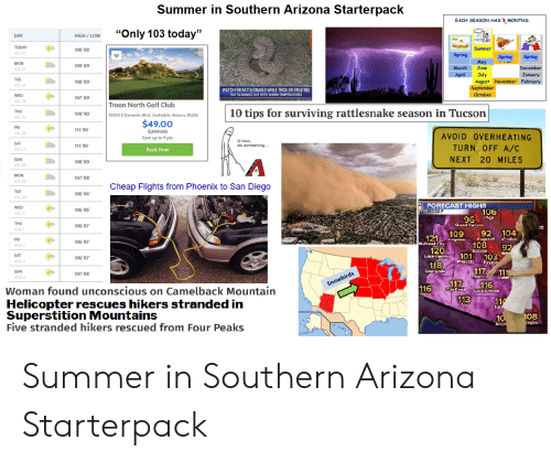 Summer in Southern Arizona Starterpack EACH SEASON HAS MONTHS Only
