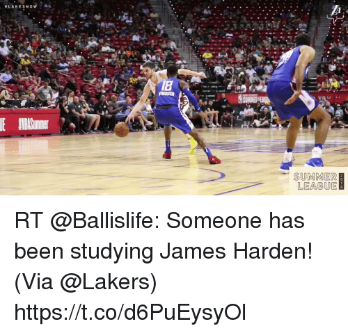 Sizzle: SUMMER  LEAGUE RT @Ballislife: Someone has been studying James Harden!   (Via @Lakers)  https://t.co/d6PuEysyOl