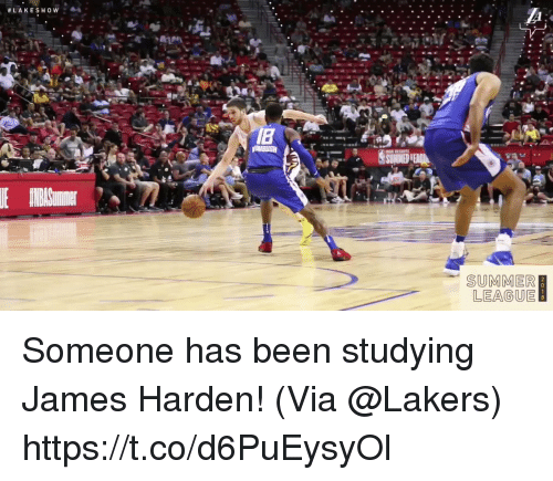 Sizzle: SUMMER  LEAGUE Someone has been studying James Harden!   (Via @Lakers)  https://t.co/d6PuEysyOl