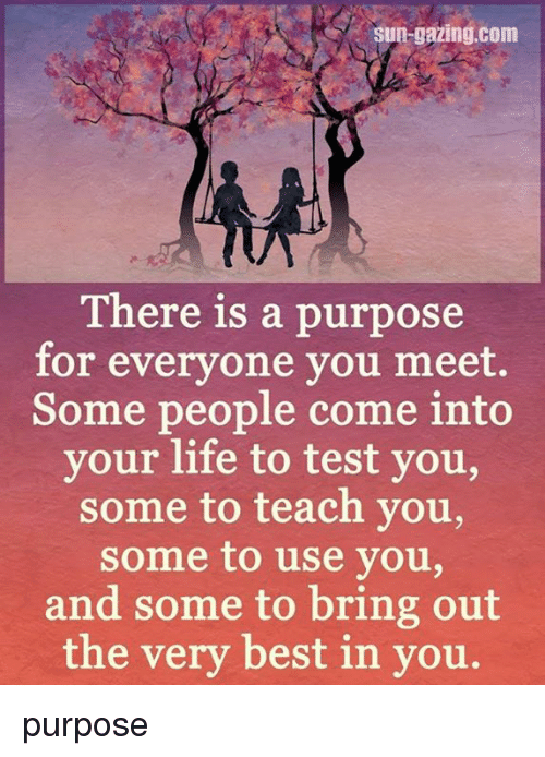 there is a purpose for everyone you meet