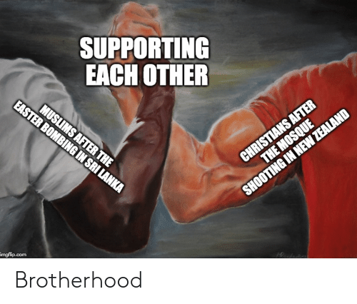 Com, Brotherhood, and Imgflip: SUPPORTING  EACH OTHER  imgflip.com Brotherhood
