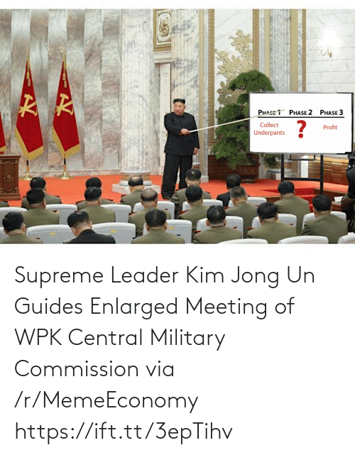 Kim Jong-Un, Supreme, and Military: Supreme Leader Kim Jong Un Guides Enlarged Meeting of WPK Central Military Commission via /r/MemeEconomy https://ift.tt/3epTihv