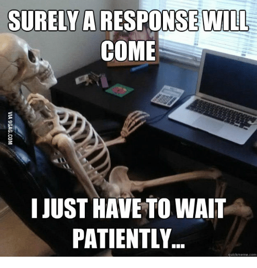 surely a will come i just have to wait patiently 14684310 ✅ 25 best memes about still waiting meme skeleton still