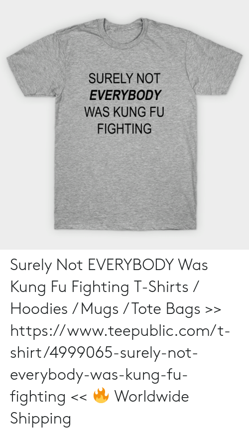 8f8ad52c0 Memes, 🤖, and Com: SURELY NOT EVERYBODY WAS KUNG FU FIGHTING Surely Not