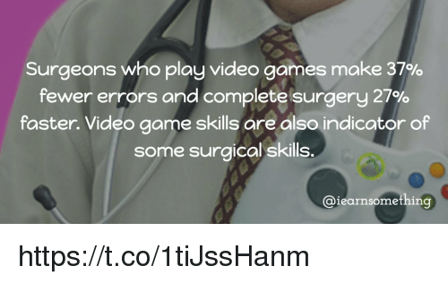 Memes, Video Games, and 🤖: Surgeons who play video games make 37%