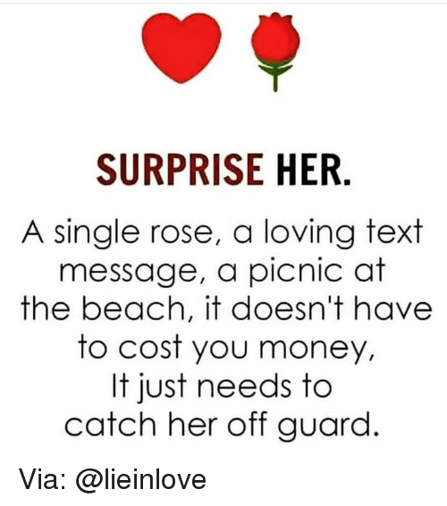 Surprise Her A Single Rose A Loving Text Message A Picnic At The