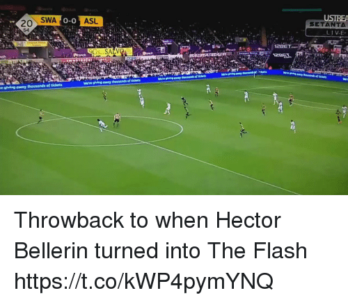 Soccer, The Flash, and Bellerin: SWA  ASL  USIREA  SETANTA  0-0  20  54  2BET  we're glving away thousands of tickets Throwback to when Hector Bellerin turned into The Flash https://t.co/kWP4pymYNQ