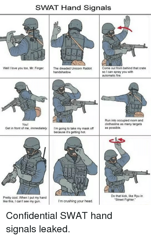 swat hand signals well i love you too mr finger 3621681 ✅ 25 best memes about swat hand signals swat hand signals memes,Swat Meme