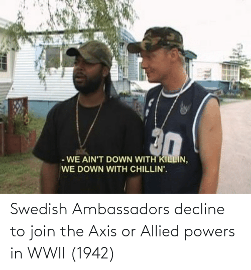 Swedish, Powers, and Wwii: Swedish Ambassadors decline to join the Axis or Allied powers in WWII (1942)