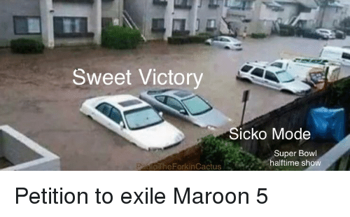 Funny, Super Bowl, and Maroon 5: Sweet Victory  Sicko Mode  Super Bowl  halftime show  oTheForkinCactus