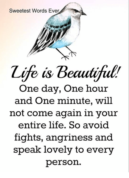beautiful words about life