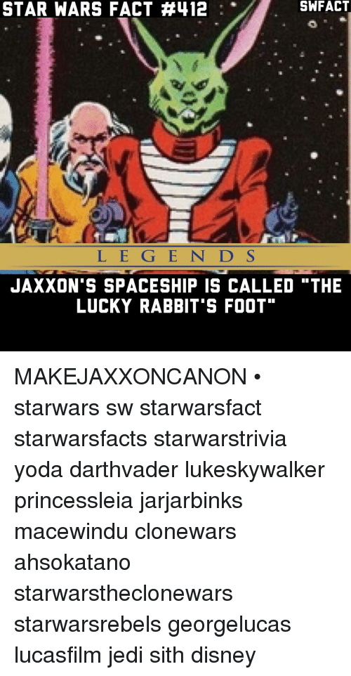 787f5ace8 Disney, Jedi, and Memes: SWFACT STAR WARS FACT A412 JAXXON'S SPACESHIP IS  CALLED