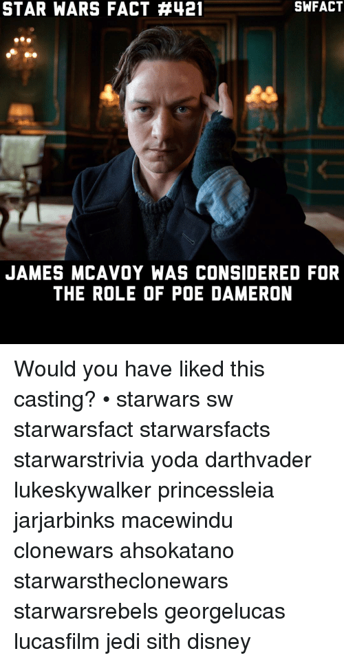 Swfact Star Wars Fact A421 James Mcavoy Was Considered For The Role