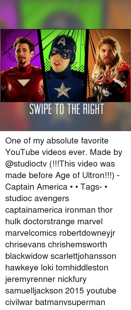 SWIPE TO THE RIGHT One of My Absolute Favorite YouTube