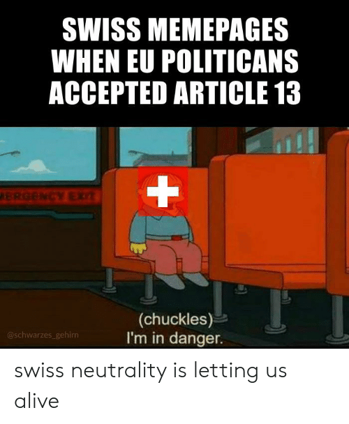 SWISS MEMEPAGES WHEN EU POLITICANS ACCEPTED ARTICLE 13