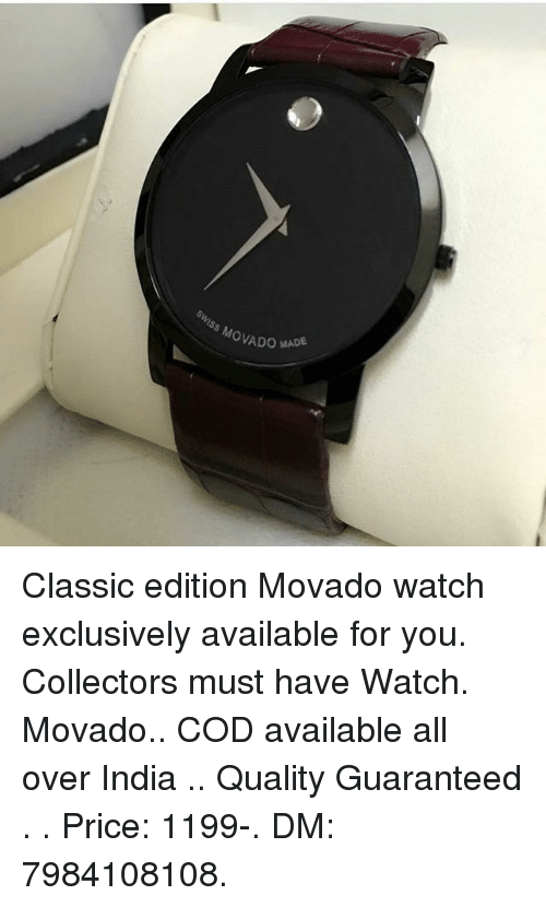 e6350cc40 Swiss MovAD Classic Edition Movado Watch Exclusively Available for ...