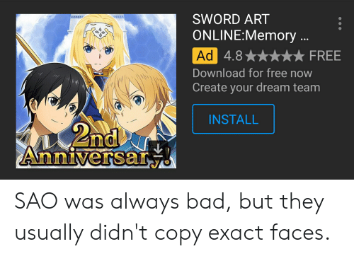 SWORD ART ONLINEMemory 48FREE Download for Free Now Create
