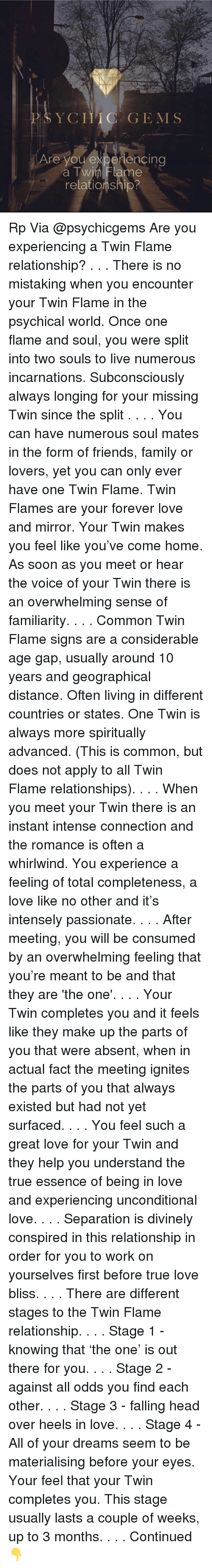 SYC HIC GEMS Are You Experiencing a TwinFlame Relationship