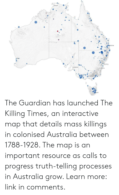 Australia Interactive Map.Sydney The Guardian Has Launched The Killing Times An Interactive