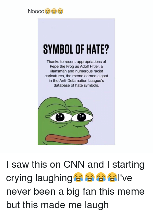 Symbol Of Hate Thanks To Recent Appropriations Of Pepe The Frog As