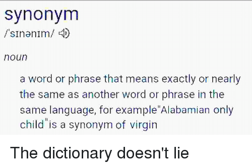 Synonym Sinanim 4 Noun A Word Or Phrase That Means Exactly Or