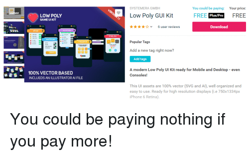 SYSTEMERA GMBH You Could Be Paying Your Price LOW POLY GAME UI KIT