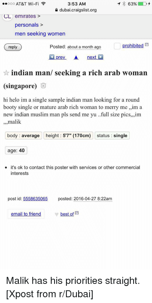 Women seeking man craigslist
