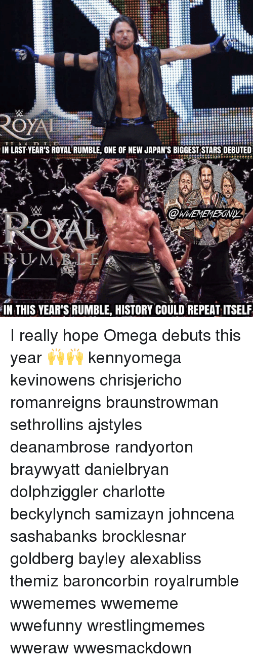 T a IN LAST YEAR'S ROYAL RUMBLE ONE OF NEW JAPAN'S
