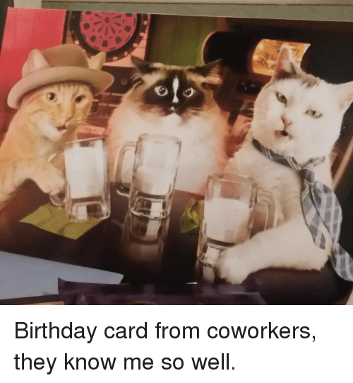 T Birthday Card From Coworkers They Know Me So Well Birthday Meme