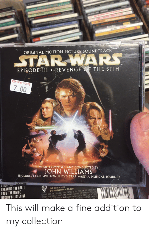 T Original Motion Picture Soundtrack Star Wars Tm Episode Iil Revenge Of The Sith Ranch Records 700 Music Composed And Conducted By John Williams Includes Exclusive Bonus Dvd Star Wars A Musical