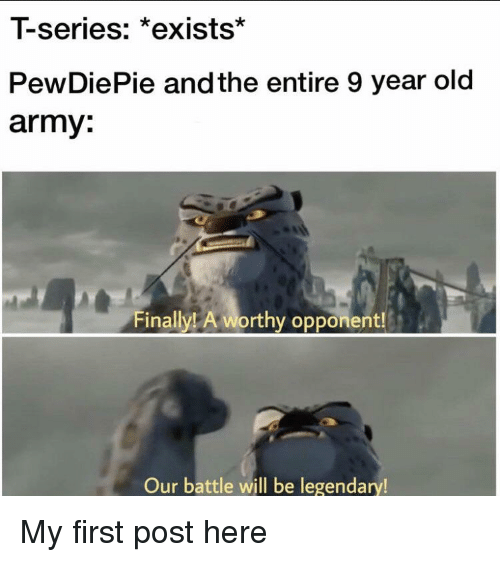 T-Series *Exists* PewDiePie and the Entire 9 Year Old Army