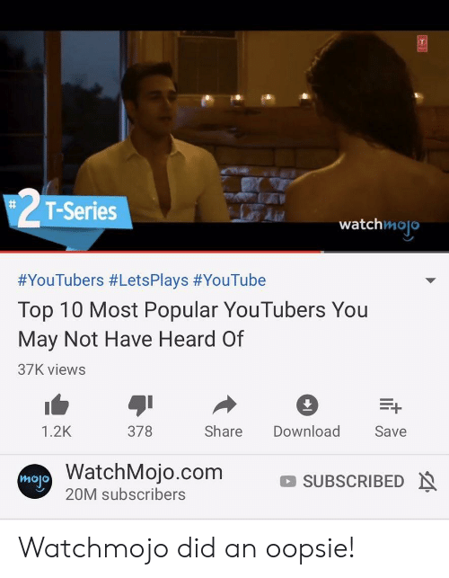 T-Series # Watchmojo #YouTubers #LetsPlays #YouTube Top 10