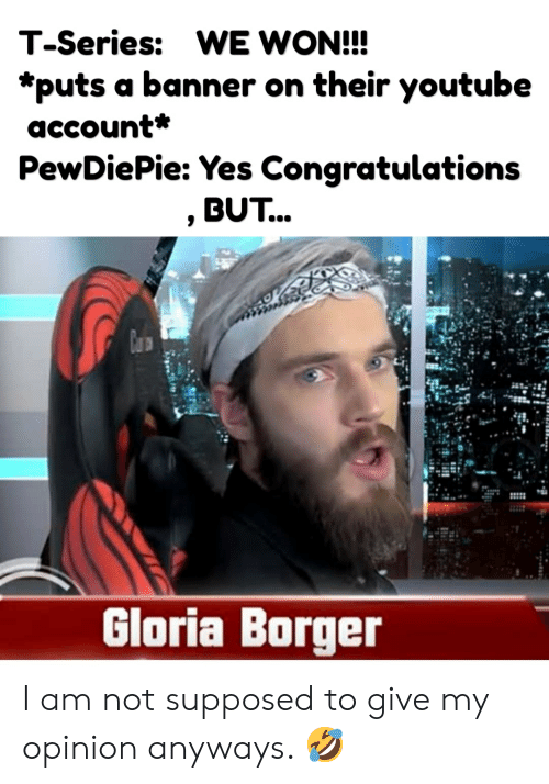 T-Series WE WON!!! *Puts A Banner On Their Youtube Account